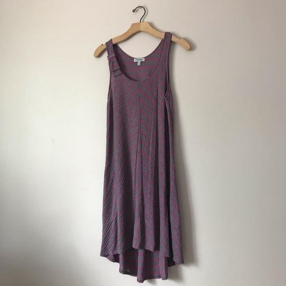 Olsenboye Dresses & Skirts - Olsenboye midi asymmetric striped dress